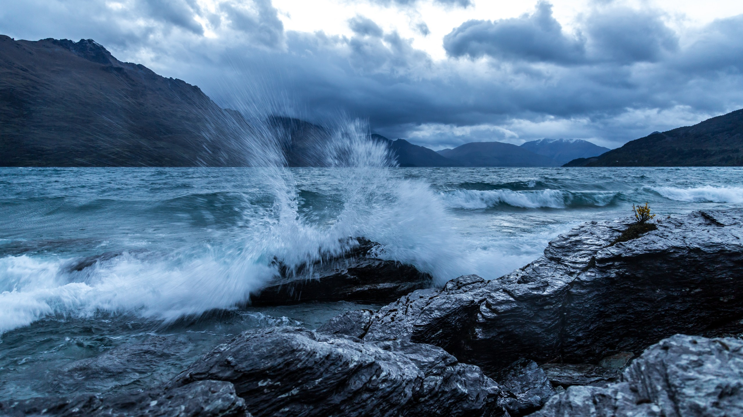 Обои отлив, лучи, тучи, скалы. Природа foto 10