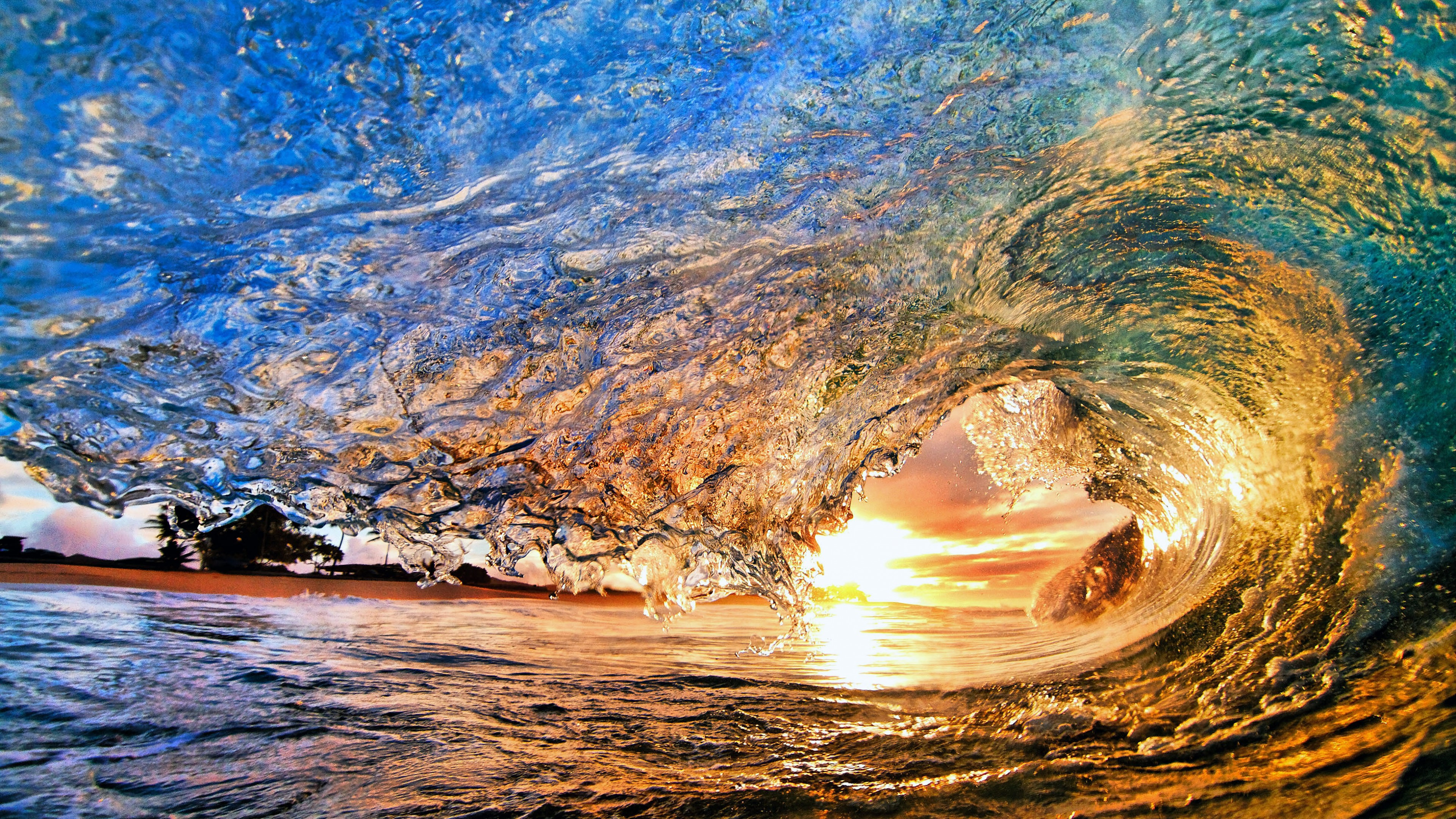 Обои отлив, лучи, тучи, скалы. Природа foto 17