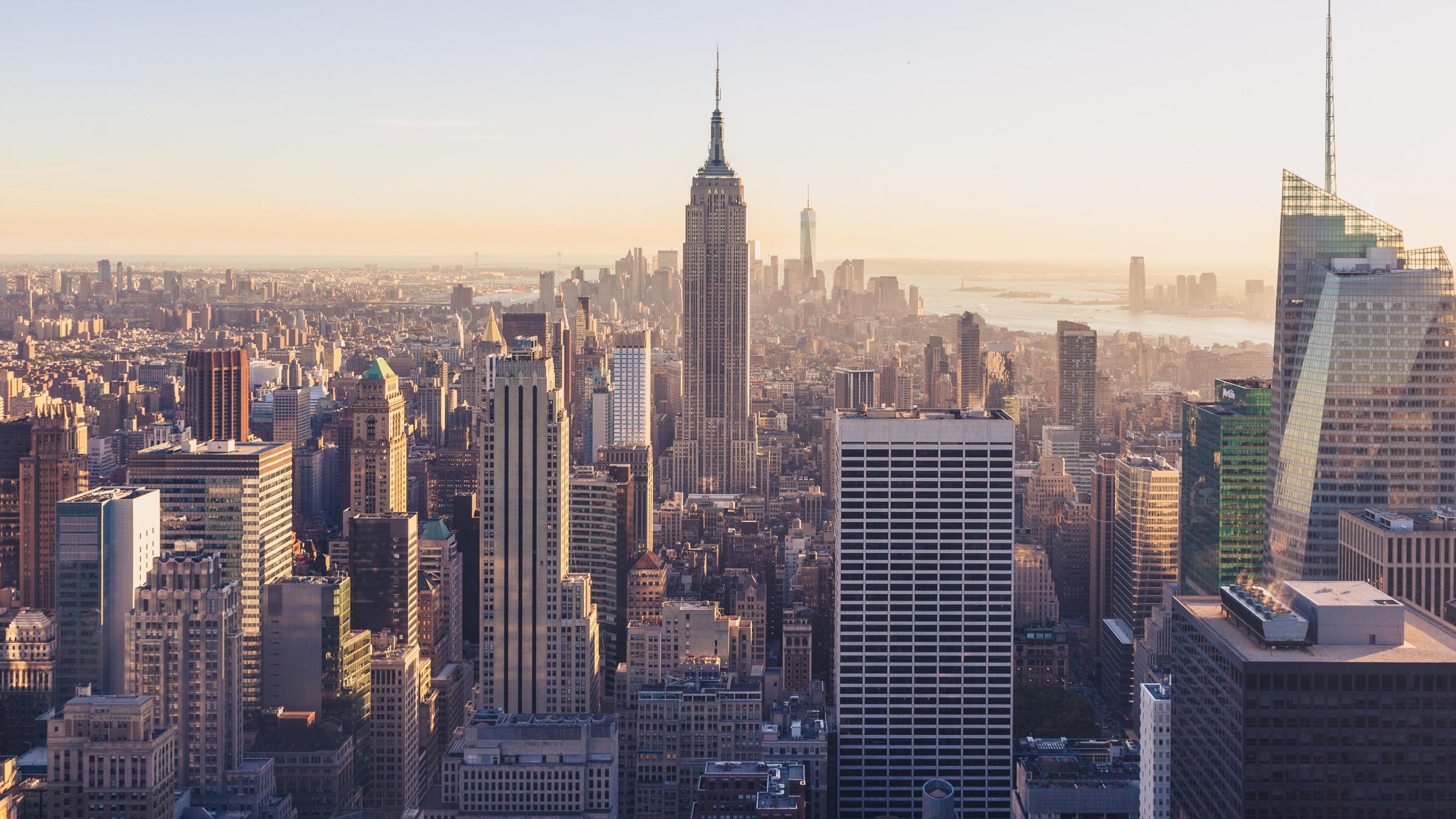 Обои buildings, downtown, skyscrapers, Sunset, сша, new york city. Города foto 8