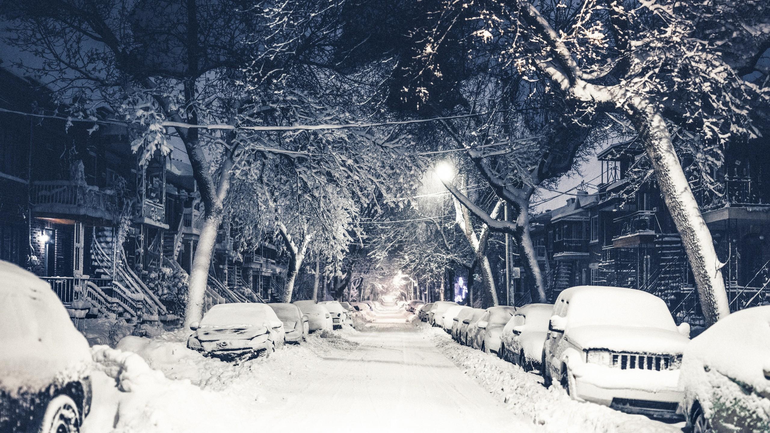 Обои snow, winter. Города foto 15