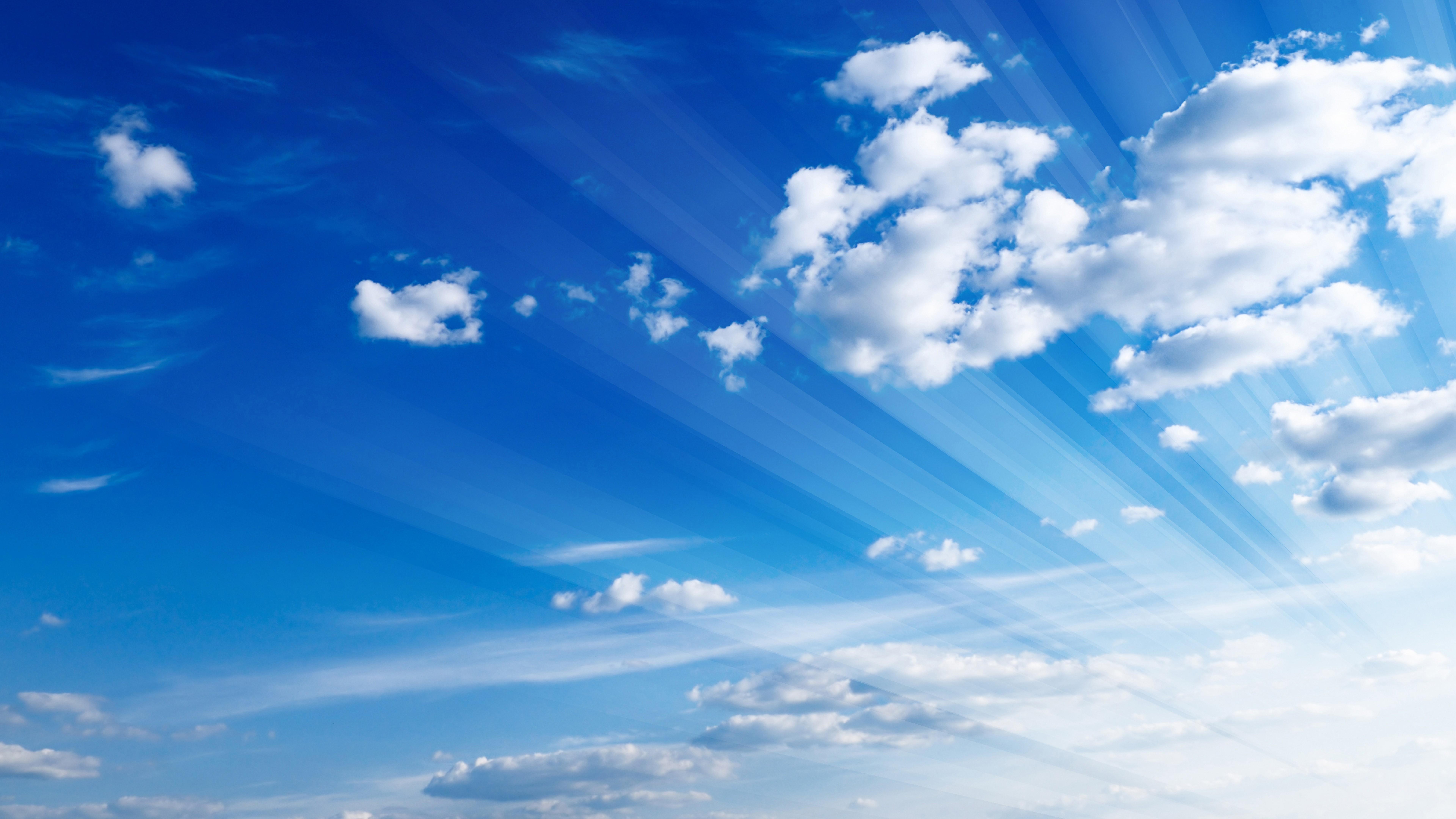 Поздравление днем, открытка с облаками