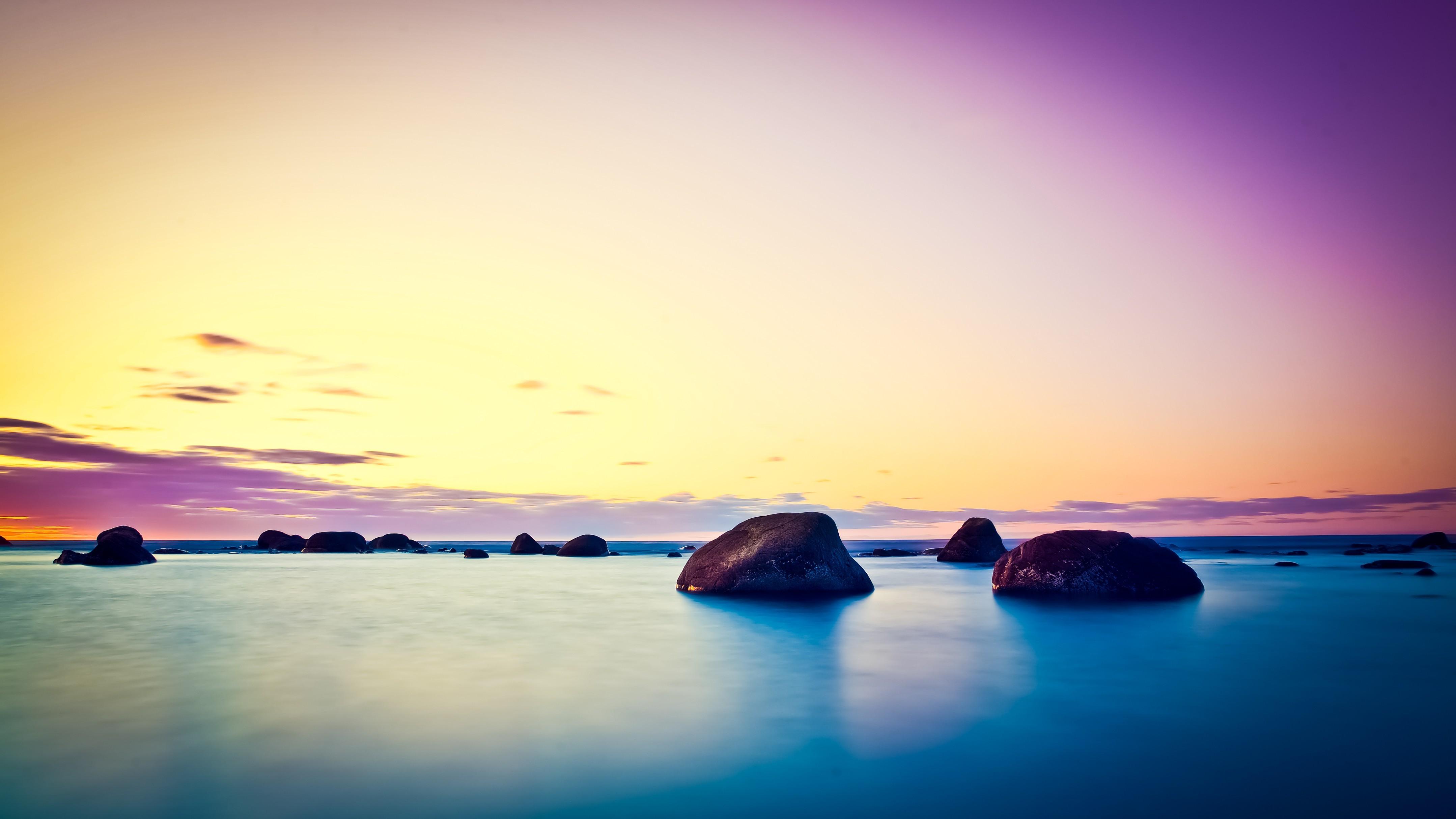 Рассвет океан фото
