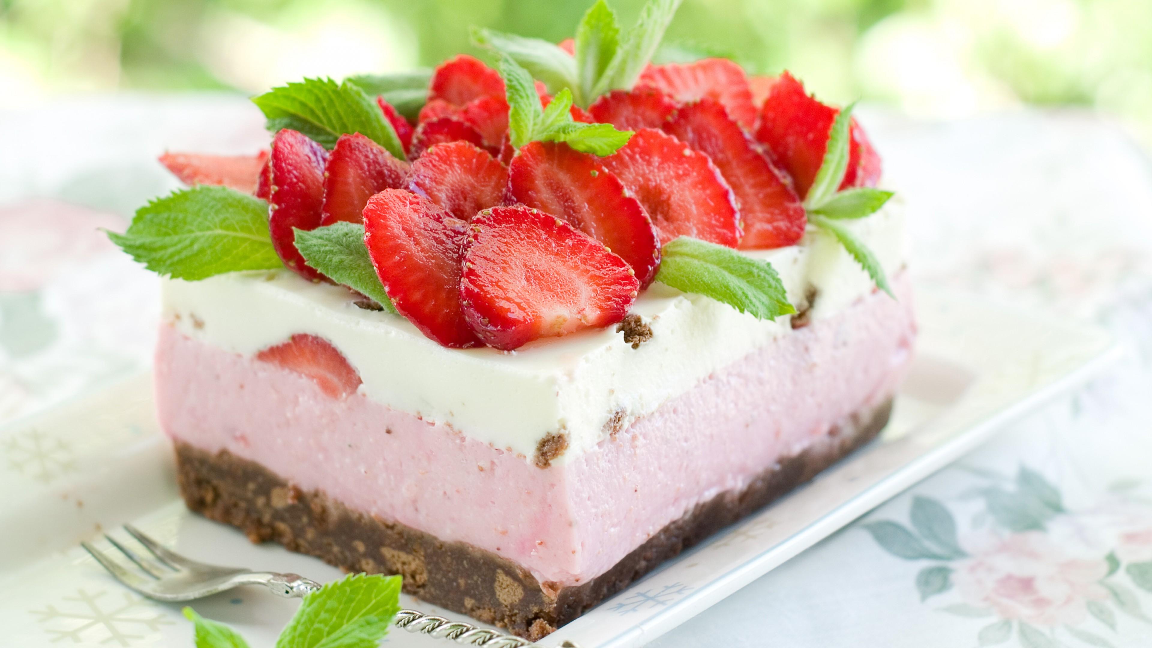 Обои Strawberry, cake, food. Еда foto 19