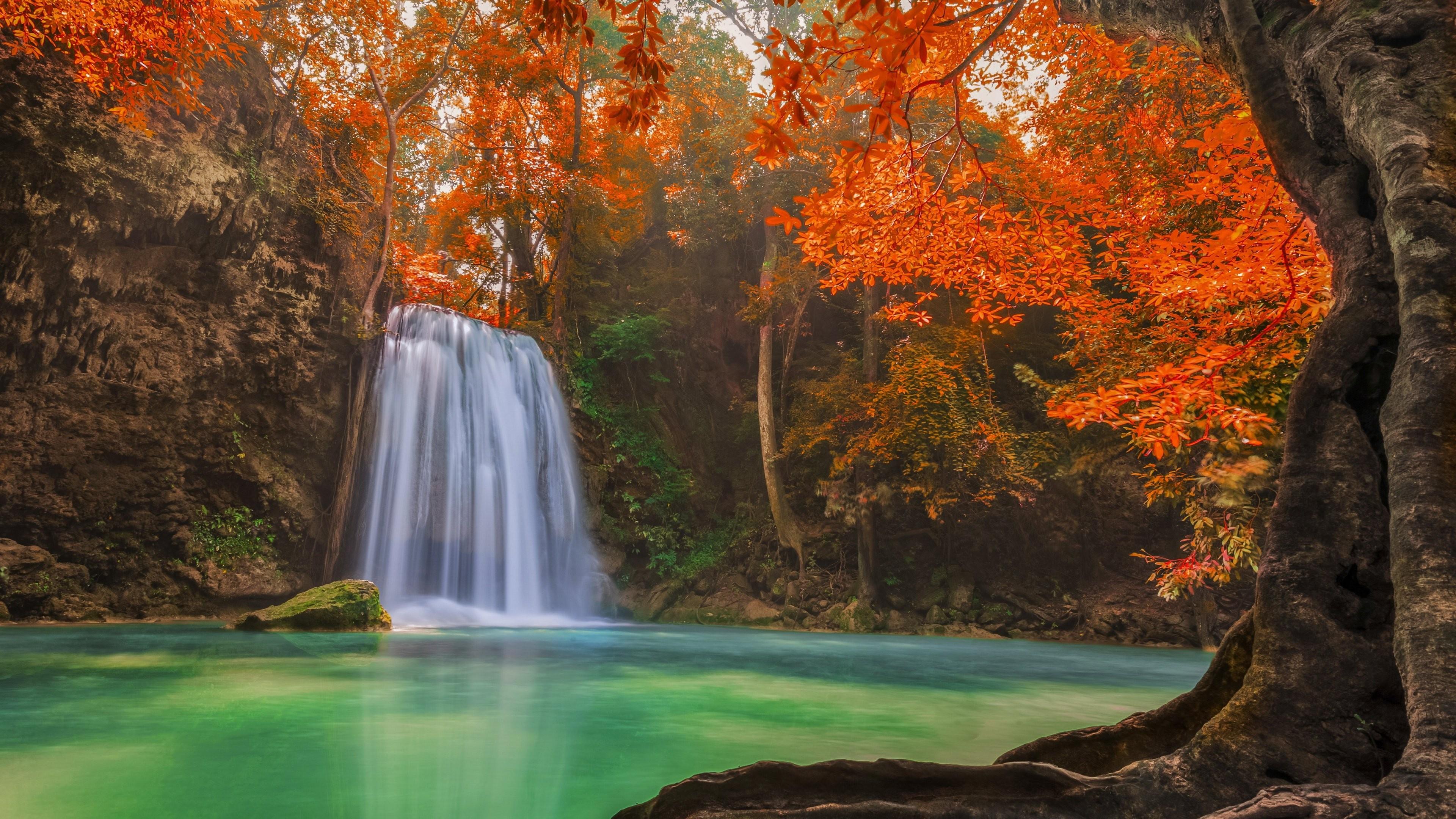 Обои водопад, осень. Природа foto 15