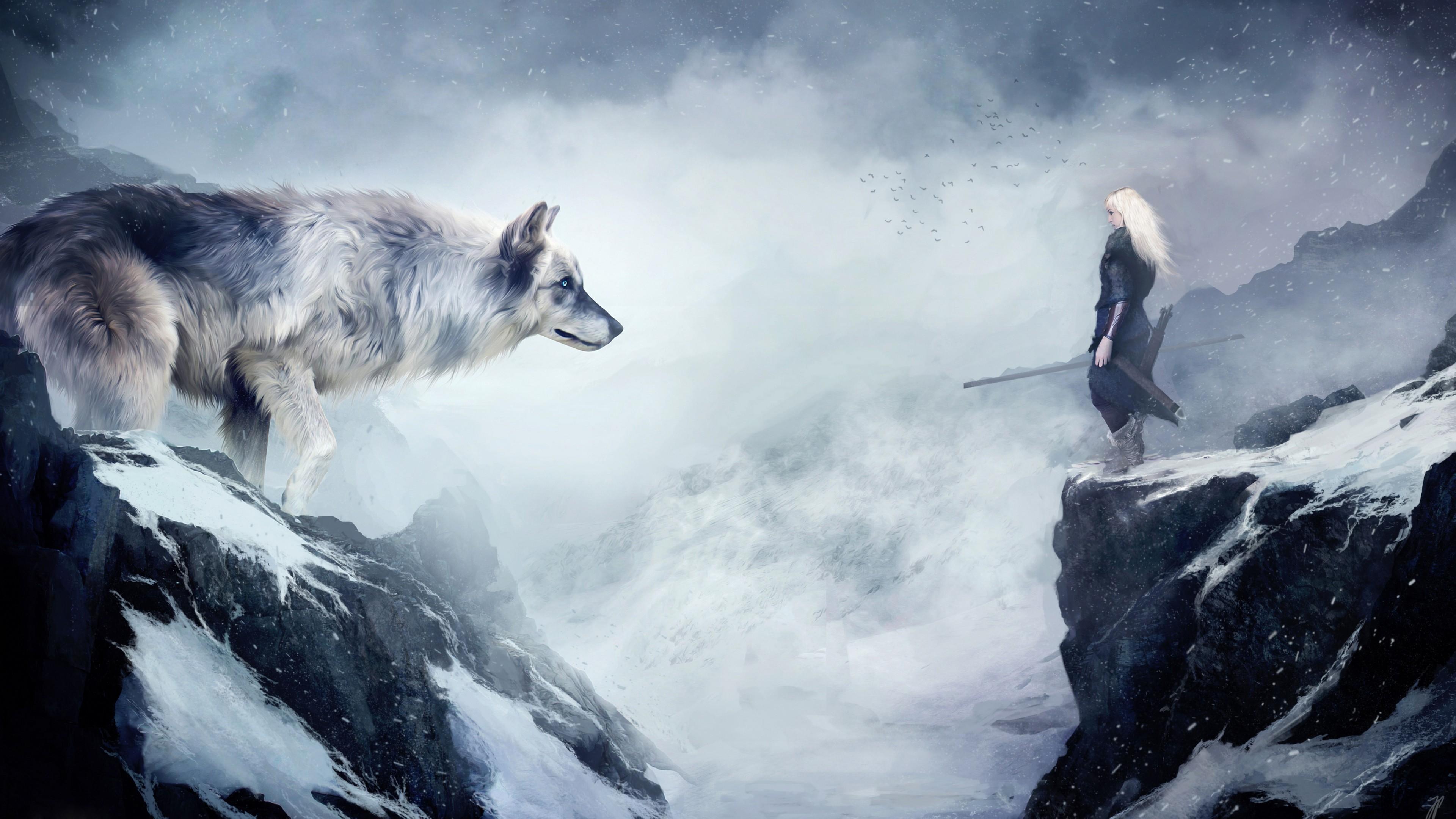 Обои На Телефон Волк Фэнтези